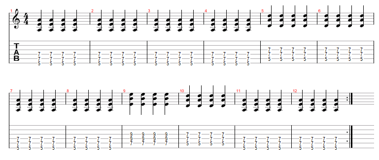 Blues Guitar Chords Progressions images