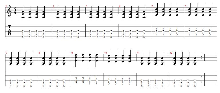 Guitar guitar chords acoustic : Acoustic Guitar Blues Lessons, Twelve Bar Blues - Free Acoustic ...