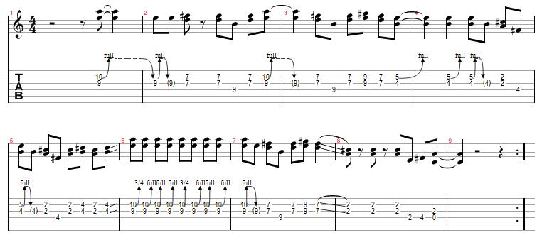 guitar tabs sheets. Gimme Three Steps Guitar Tab